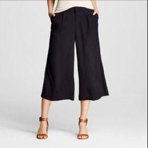 Merona Black Culotte Career Hi-rise Pants Size 2